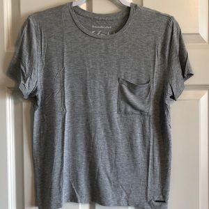 Abercrombie Grey Essentials T-Shirt